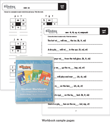 Sonday System 1 Printable Workbook Collection with samples